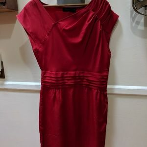 The Limited red knee-length dress